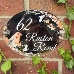 Personalised Watercolour Robin House Plaque