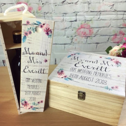Printed Wedding Box and FREE wine box set