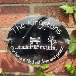 Personalised Handdrawn House Plaque