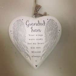 Personalised Wings Remembrance Chubby Heart