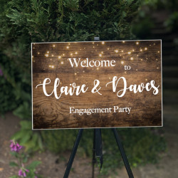 Personalised Events Board (BUY 1 get 1 FREE) WOOD AND FAIRY LIGHTS
