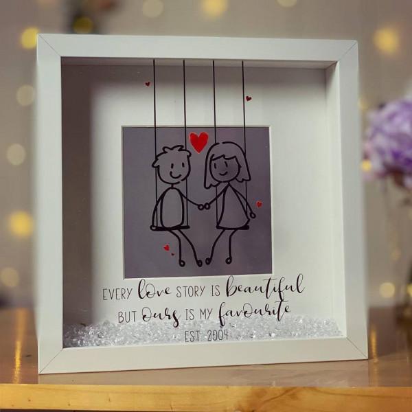 Image of loving couple personalised frame
