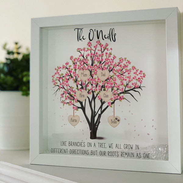 Personalised Blossom Family Tree