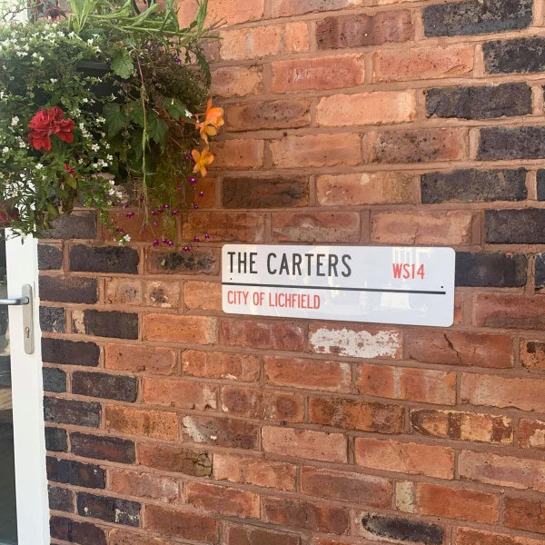 Personalised Family Postcode Street Sign 1