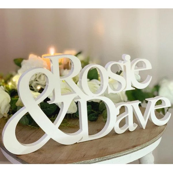 Personalised Freestanding Couple Names 0