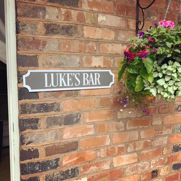 Personalised WHITE BORDER & TEXT Train/street Sign 3