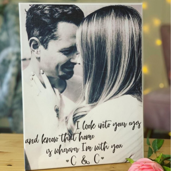 Image Of personalised valentines photo canvas
