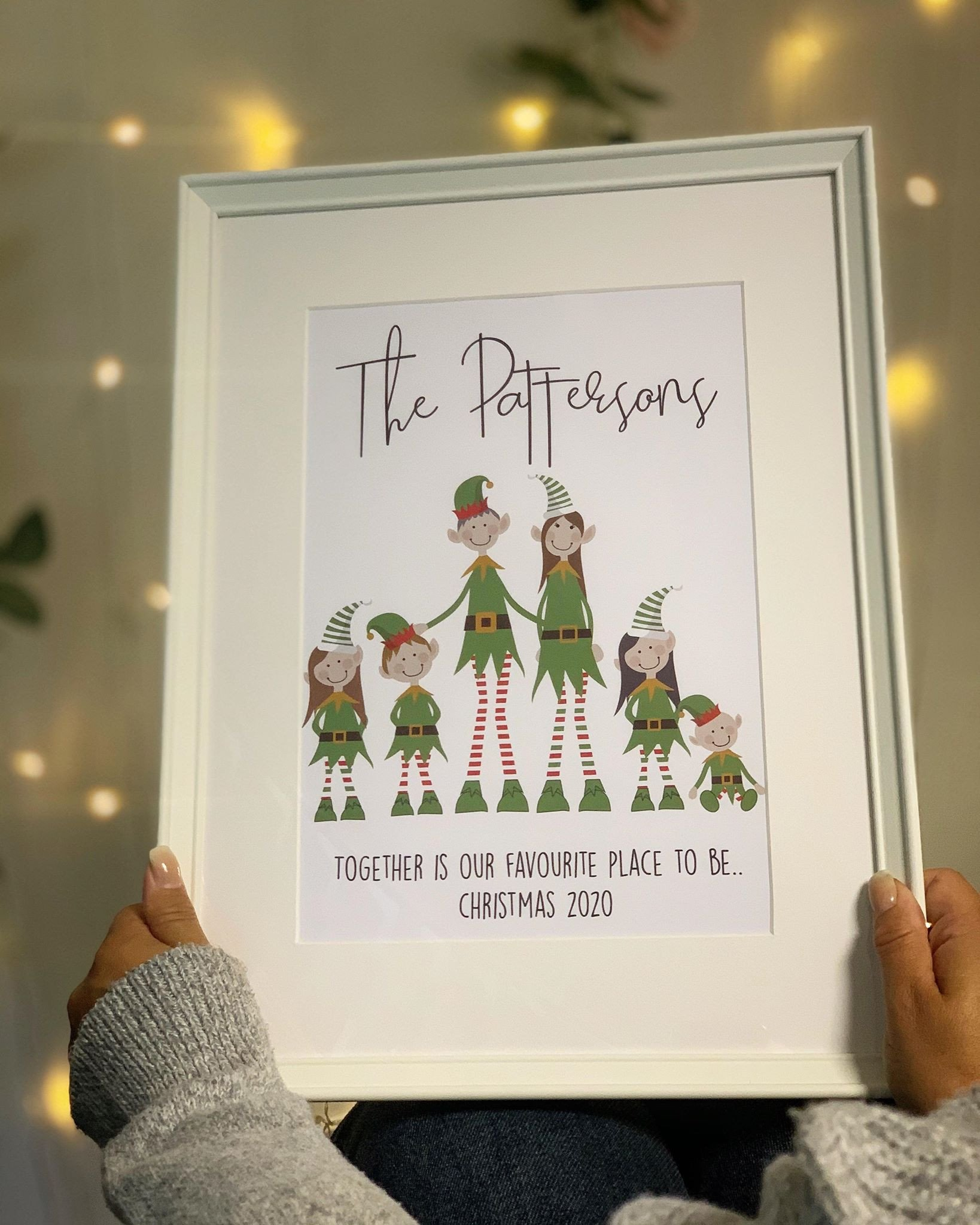 Personalised Family Elf Character Frame