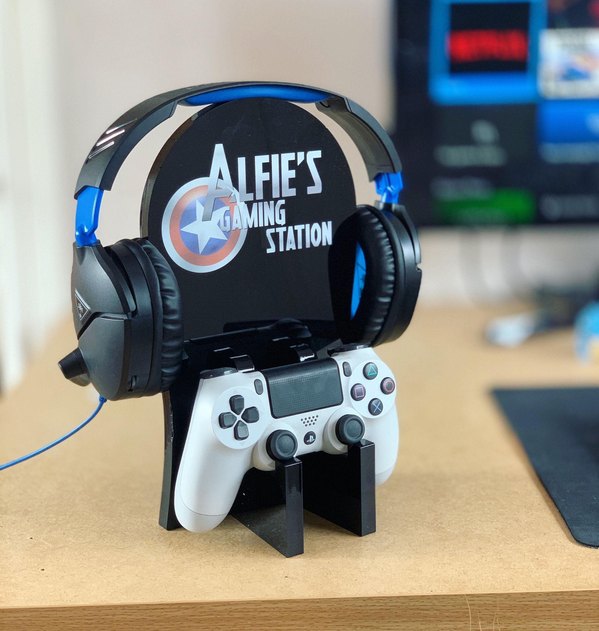 Personalised Gaming Station - Captain Shield