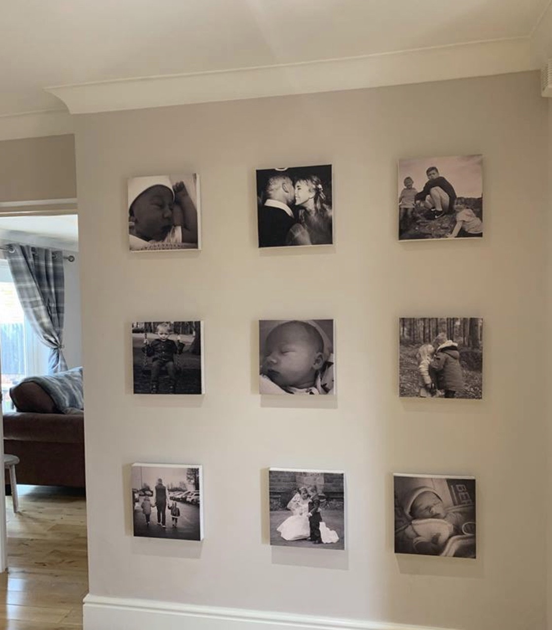 Personalised Set of Photo Tile Canvas'