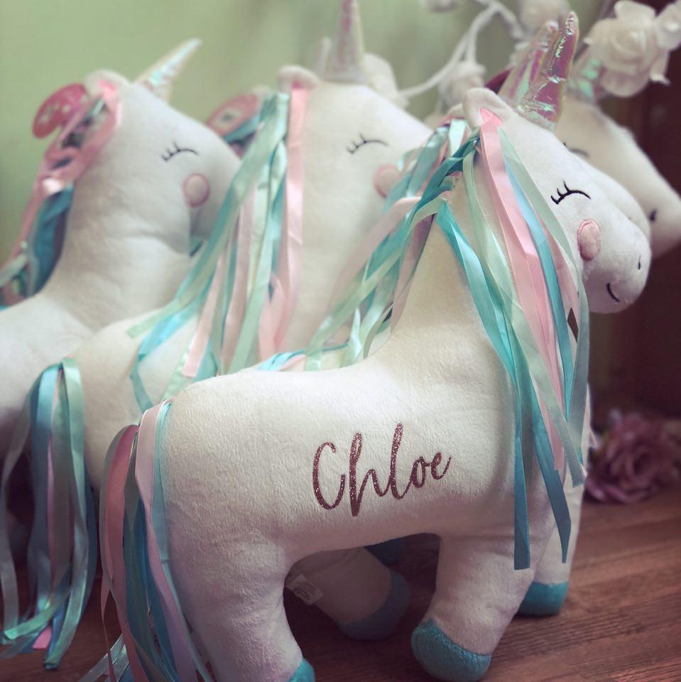 Rainbow Unicorn Personalised Cushion