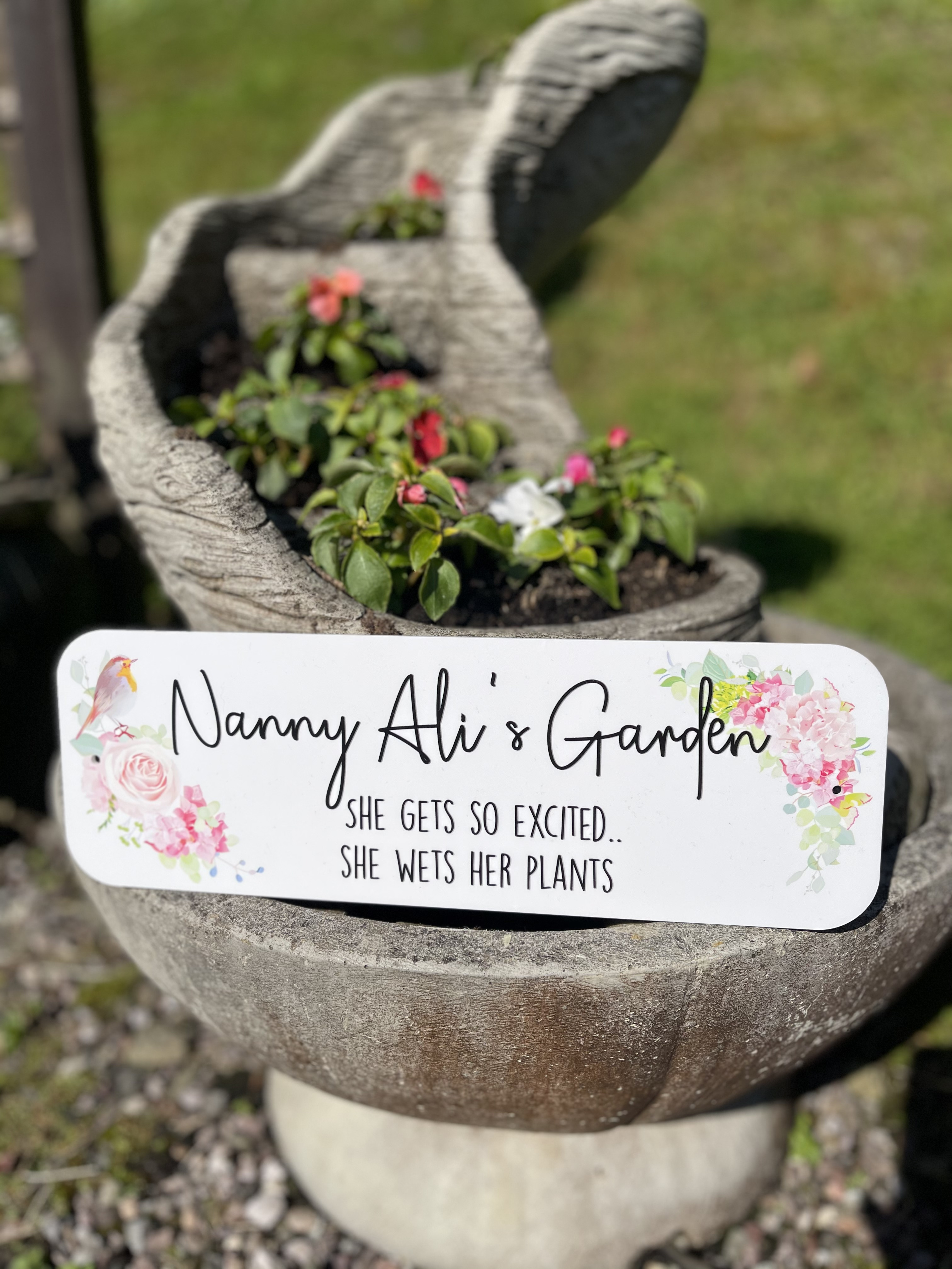 Personalised Floral Street Sign