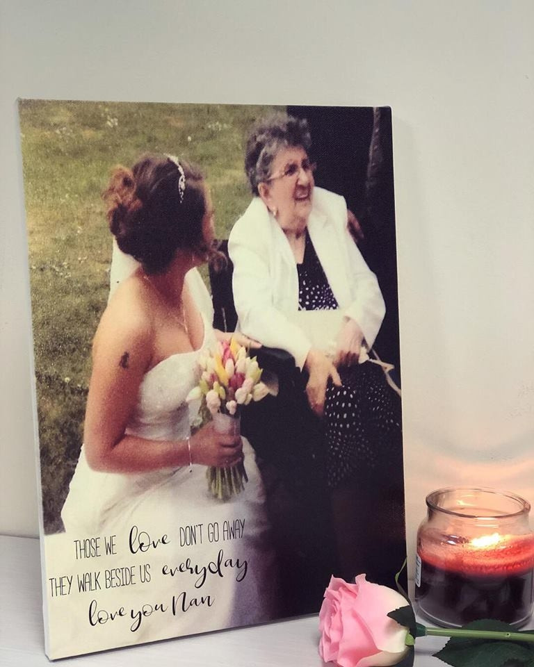 Image of personalised remembrance canvas