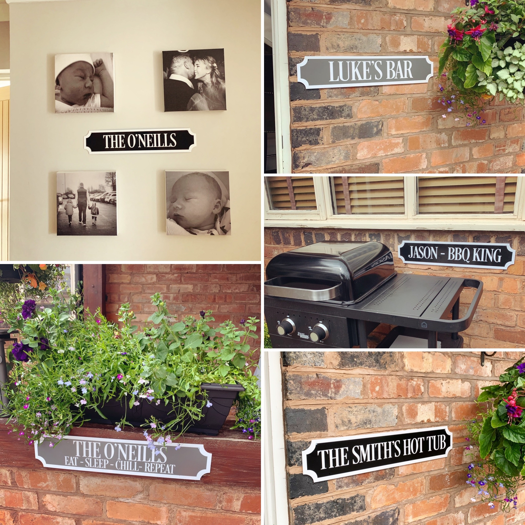 Personalised WALL MOUNTED Train/street Sign