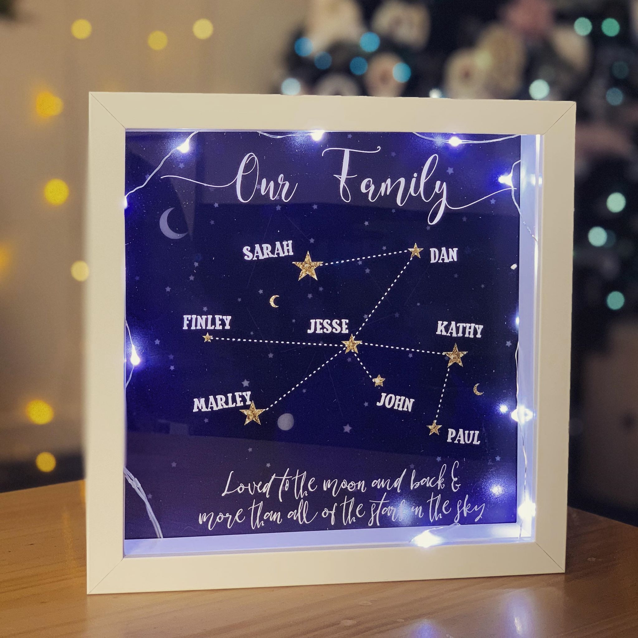 Personalised Constellation Family Frame