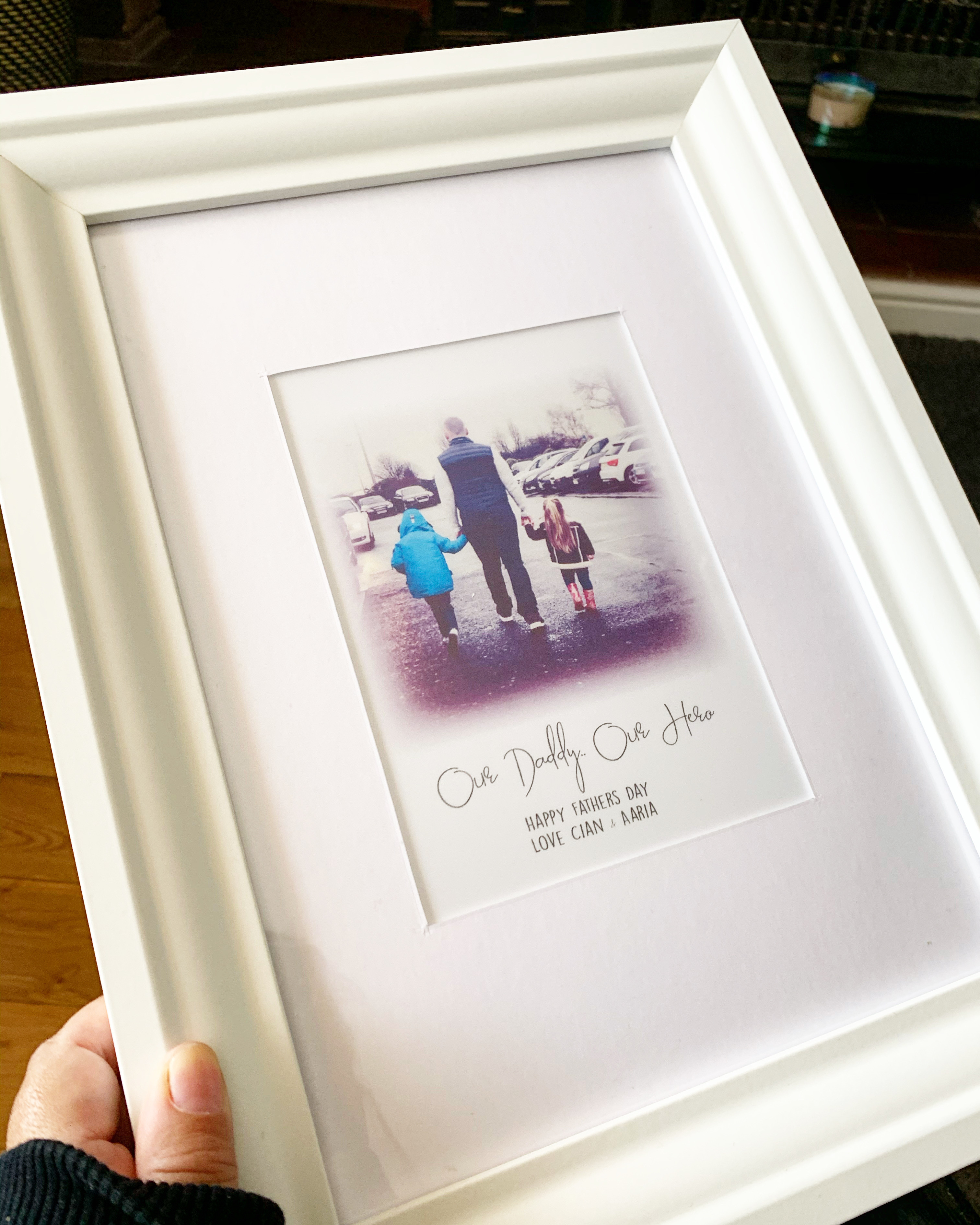 Personalised Photo 'Our Hero' Print