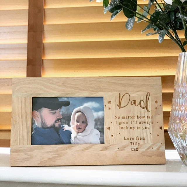 Personalised Stars And Message Oak Frame