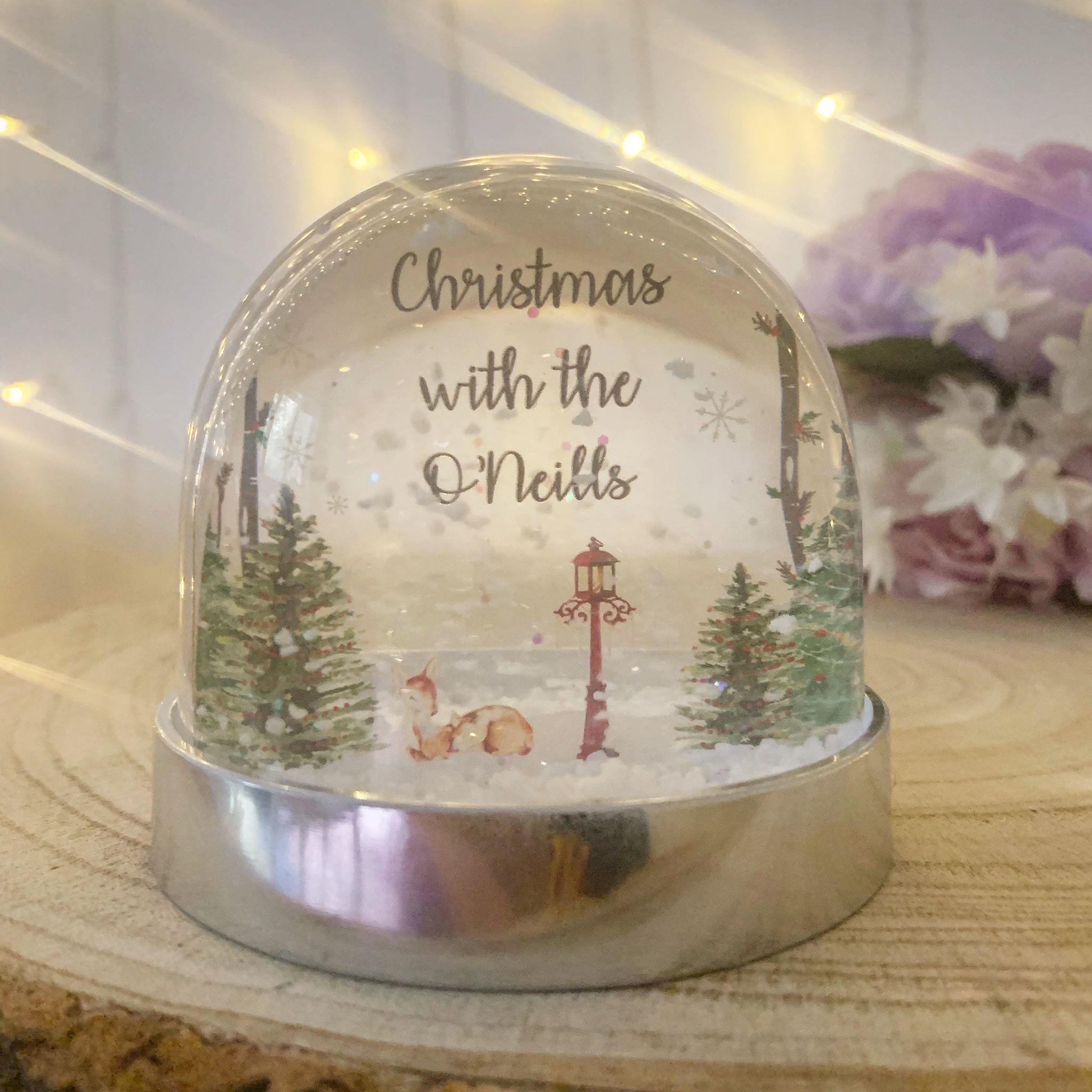 Personalised Snow Globe Shaker - LAMPOST