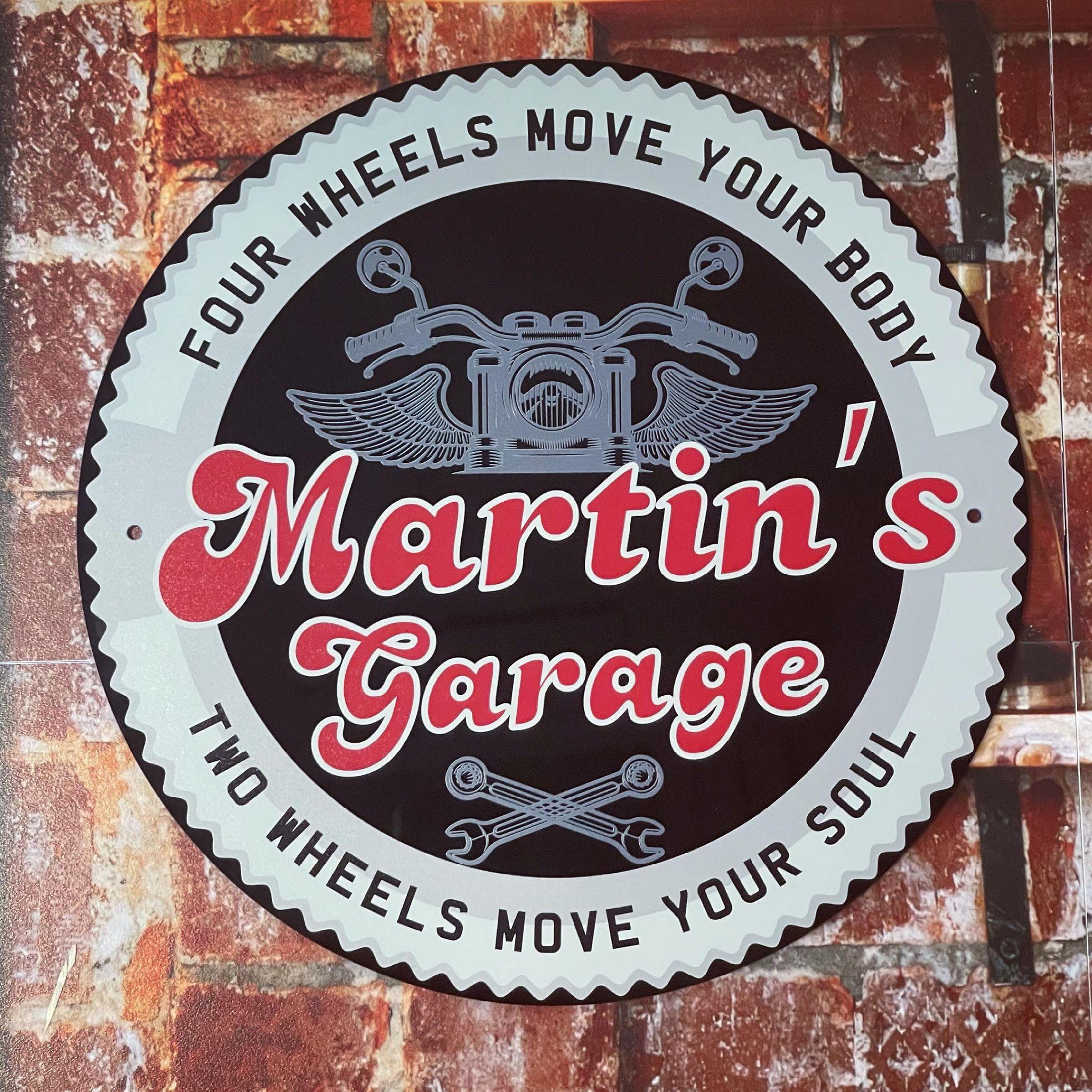 Personalised Circle Garage Sign