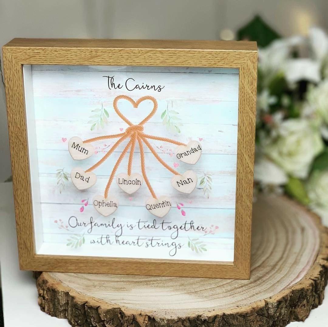 Personalised Heart Strings Frame