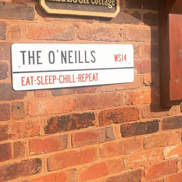 Personalised Family Postcode Street Sign 0