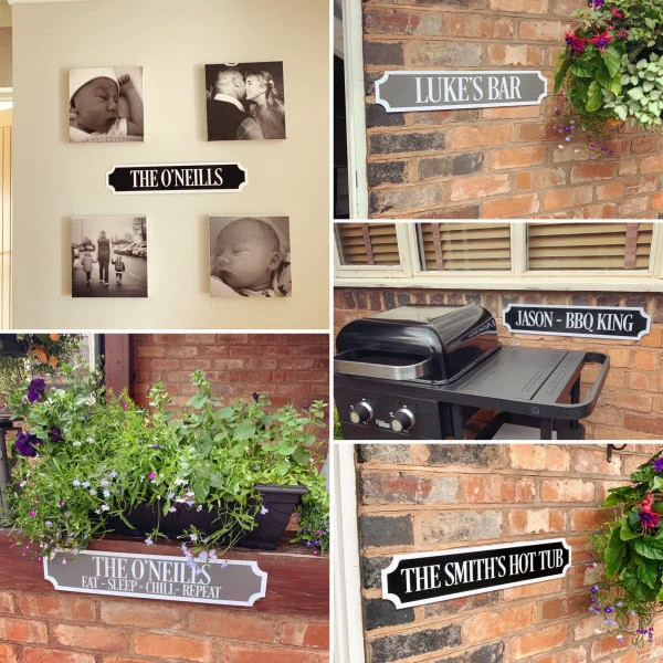 Personalised WHITE BORDER & TEXT Train/street Sign 0