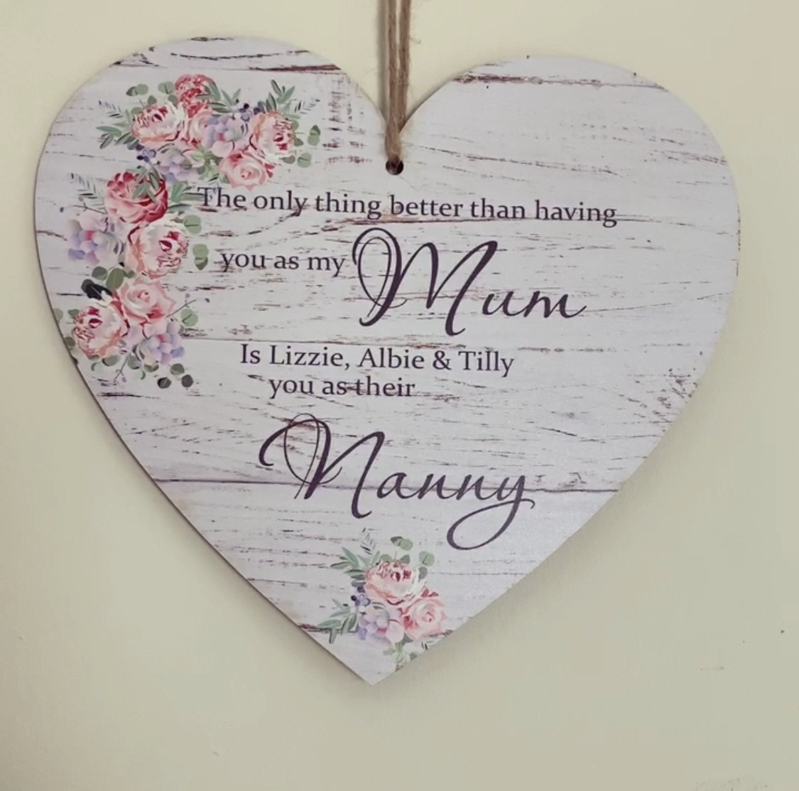 Personalised The Only Thing Better Hanging Heart Plaque