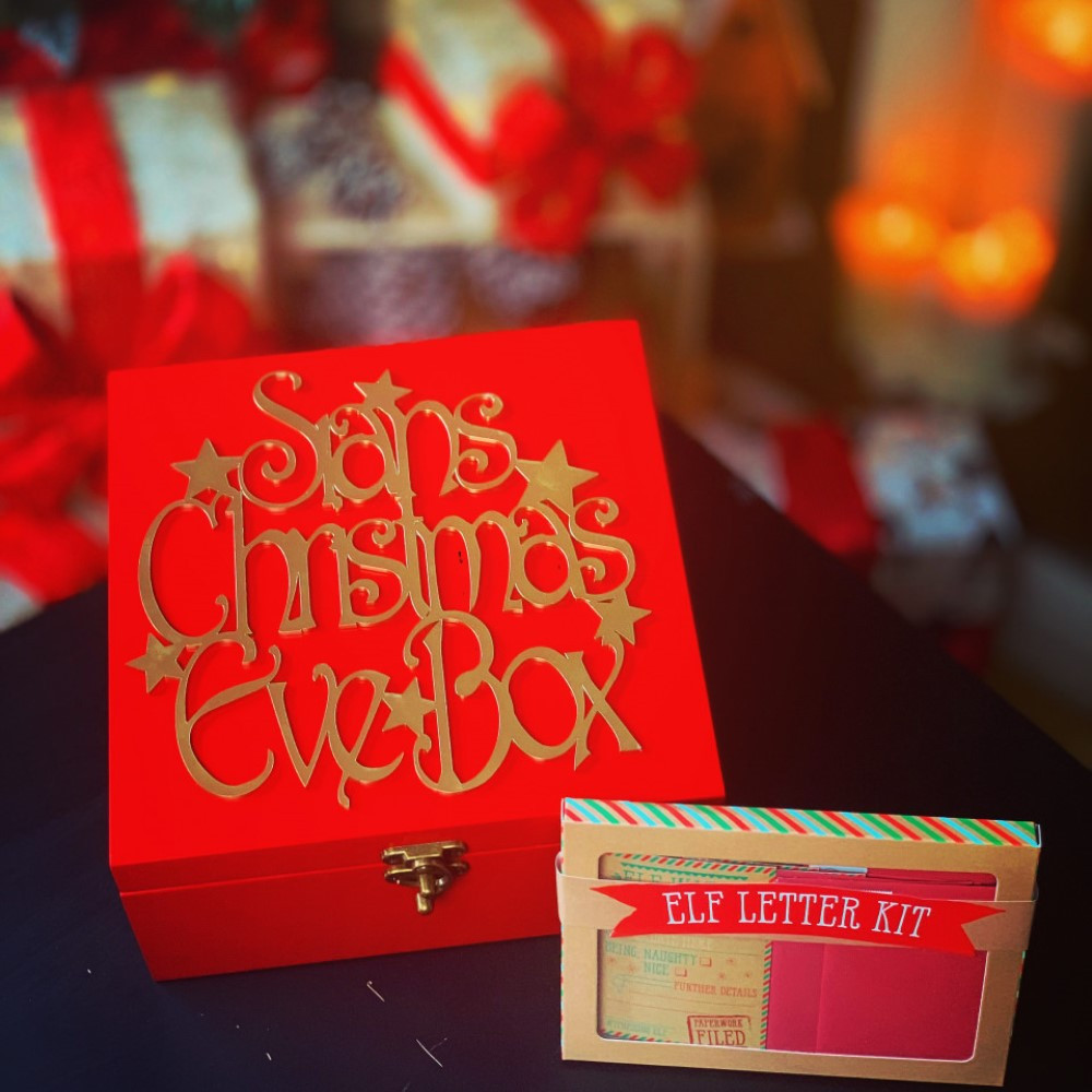 Personalised Classic Red Christmas Eve Box