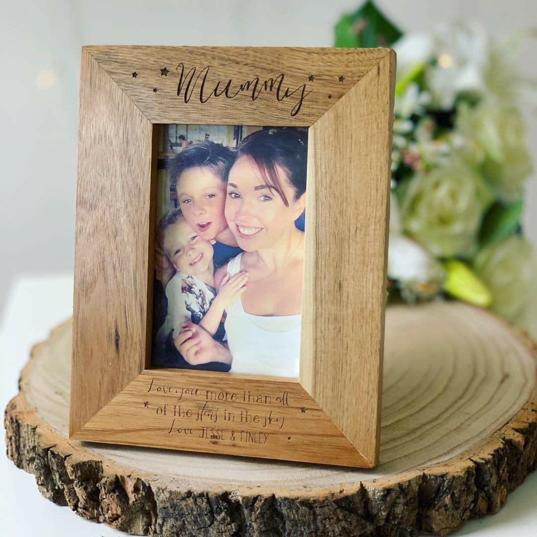Personalised Oak Frame Star Design ***GUARANTEED FOR MOTHER'S DAY***