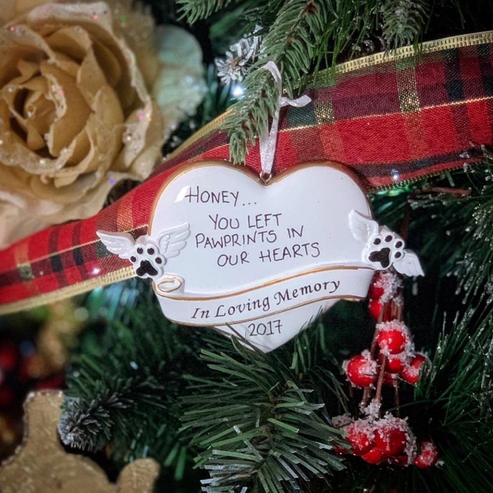 Personalised Pet Remembrance Hanging Decoration